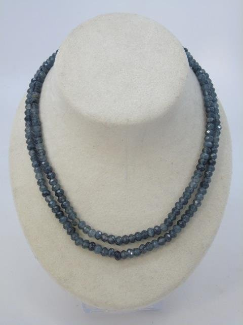 Pair of Faceted Beaded Spinel Necklace Strands - 2