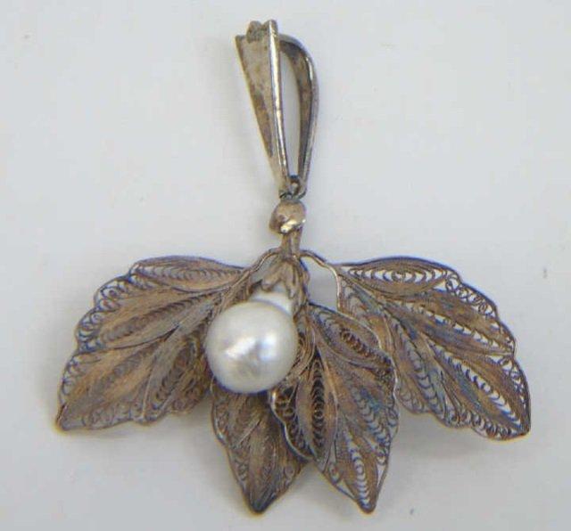 Three Estate Filigree & Sterling Silver Necklaces - 6
