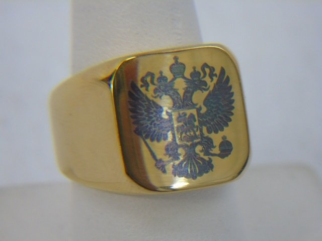 Russian Imperial Double Headed Eagle Ring - 3