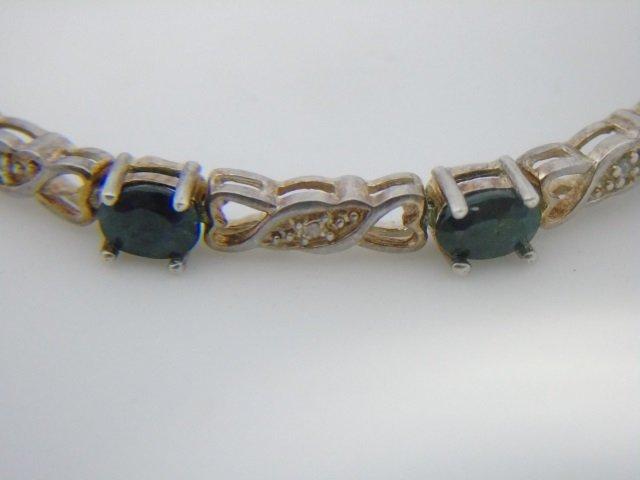 Sterling Silver Bracelet w/ Blue Gemstones - 3