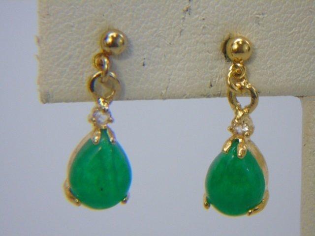 Jade, Cultured White & Black Pearl Earrings - 5