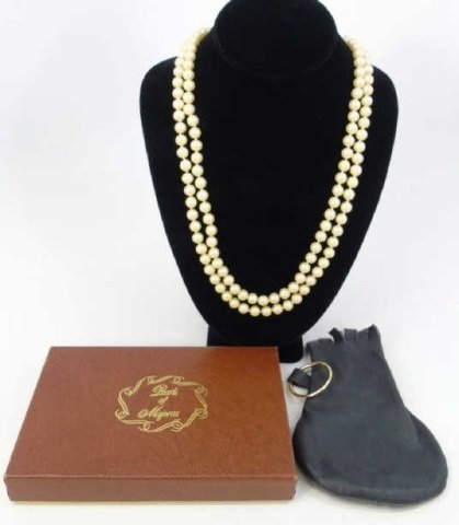 Vintage 54 Inch Hand Knotted Majorca Pearl Strand
