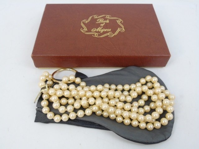 Vintage 54 Inch Hand Knotted Majorca Pearl Strand - 2