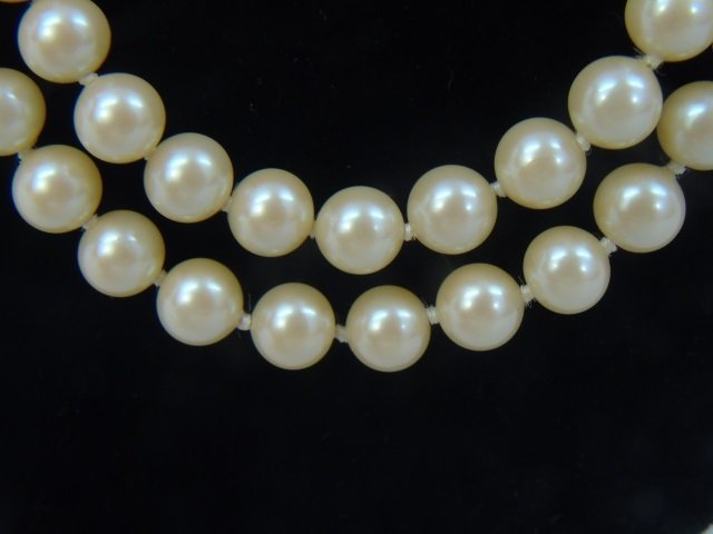 Vintage 54 Inch Hand Knotted Majorca Pearl Strand - 3