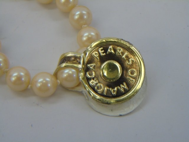 Vintage 54 Inch Hand Knotted Majorca Pearl Strand - 4