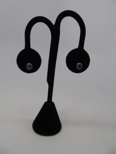 3 Pairs of Cultured White & Black Pearl Earrings - 3