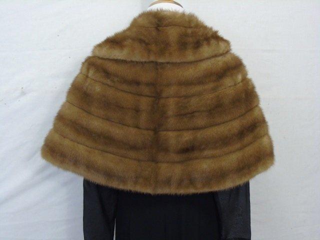 Vintage Silk Lined Light Brown Mink Stole / Wrap - 2