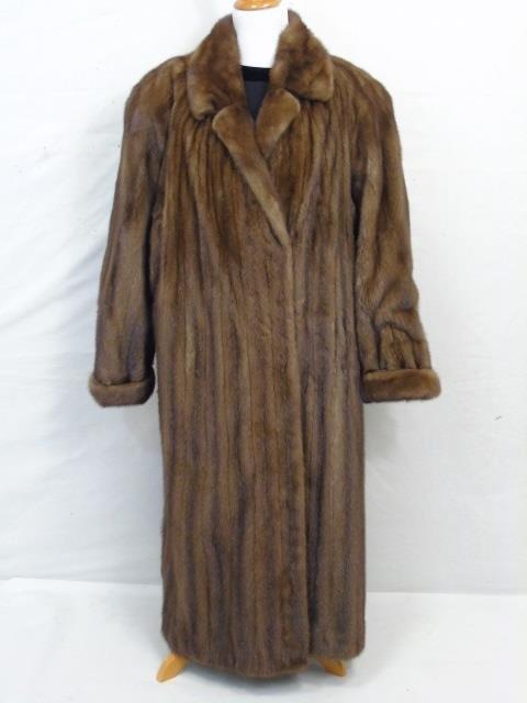 Vintage Ladies Full Length Light Brown Mink Coat