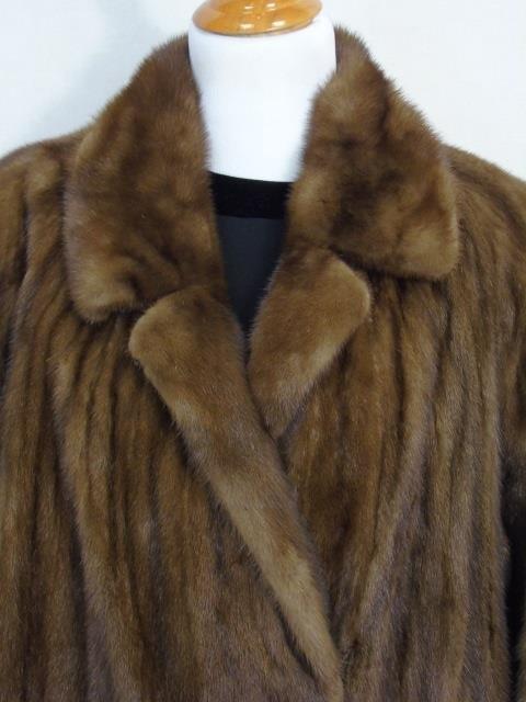Vintage Ladies Full Length Light Brown Mink Coat - 2