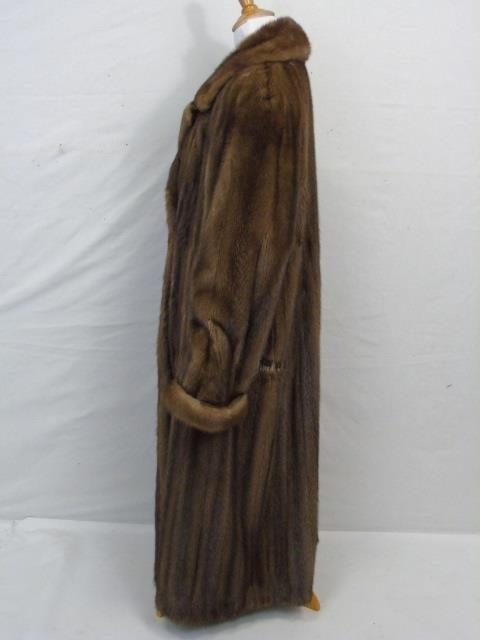 Vintage Ladies Full Length Light Brown Mink Coat - 3