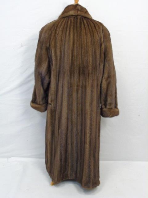 Vintage Ladies Full Length Light Brown Mink Coat - 4