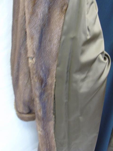 Vintage Ladies Full Length Light Brown Mink Coat - 5