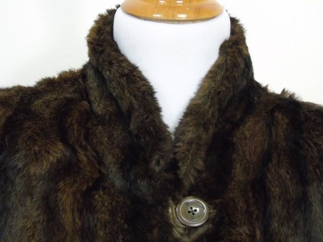 Vintage Ladies Brown Mink Silk Lined Coat - 2