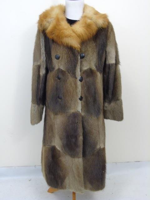 Vintage Patchwork Mink Pucci Silk Lined Fur Coat