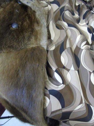 Vintage Patchwork Mink Pucci Silk Lined Fur Coat - 4