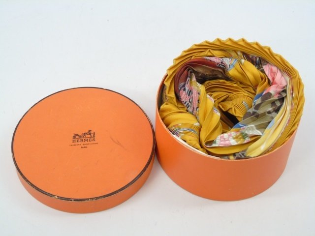 Hermes Silk Pleated Accordion Scarf in Box - 2