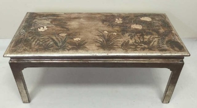 Max Kuehne Signed Polychrome Painted Coffee Table