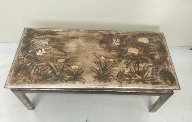 Max Kuehne Signed Polychrome Painted Coffee Table - 3