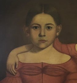 Early American 19th C Portrait Painting of Twins - 5