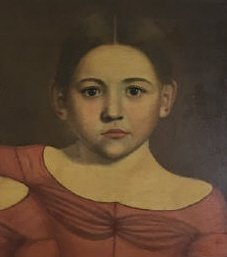Early American 19th C Portrait Painting of Twins - 6