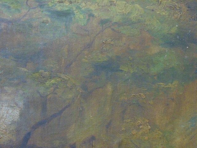 Antique American Landscape Painting w Live Oak - 4