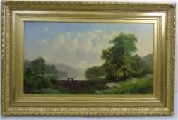 George Loring Brown Summer Landscape Oil Painting