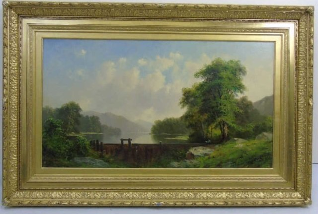 George Loring Brown Summer Landscape Oil Painting