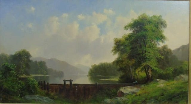 George Loring Brown Summer Landscape Oil Painting - 2