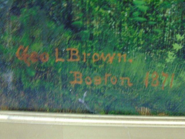 George Loring Brown Summer Landscape Oil Painting - 3