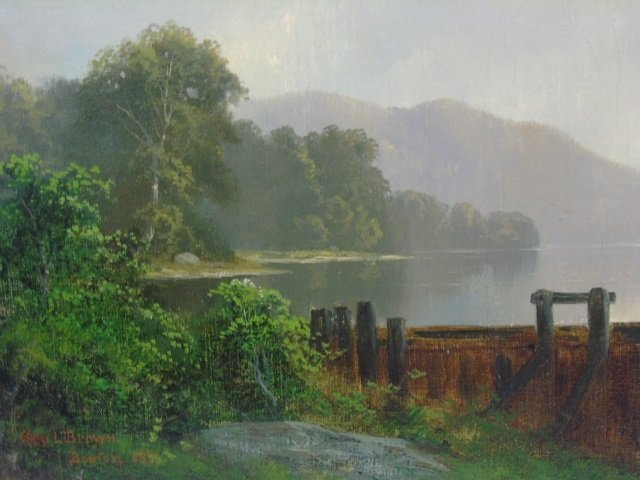 George Loring Brown Summer Landscape Oil Painting - 4