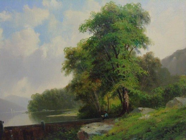 George Loring Brown Summer Landscape Oil Painting - 5
