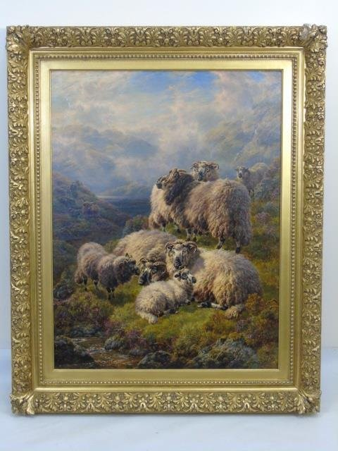 William Watson - Large Landscape Painting w Sheep