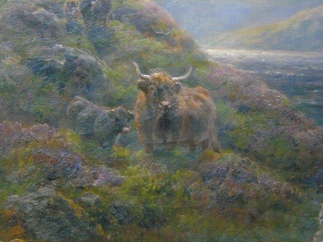 William Watson - Large Landscape Painting w Sheep - 4