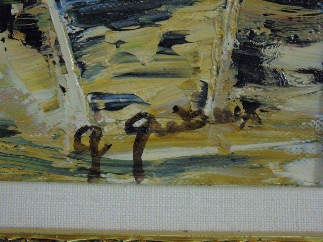 Flamboyant Saint Barths Signed 20th C Oil Painting - 2