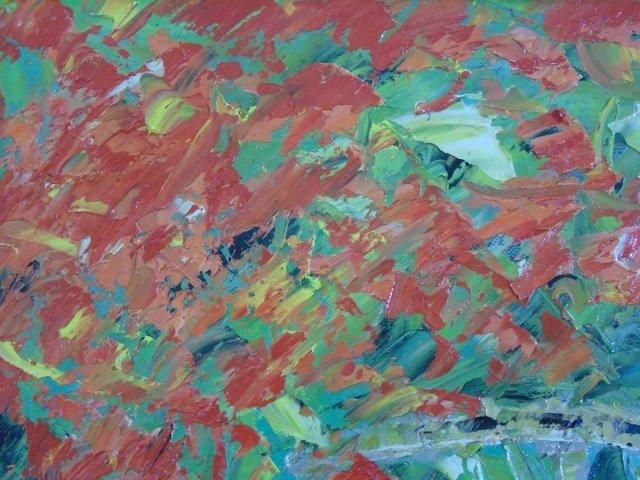 Flamboyant Saint Barths Signed 20th C Oil Painting - 3