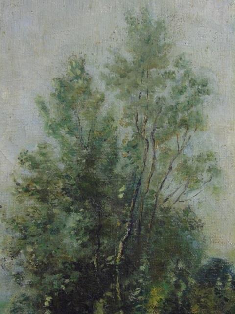 Antique Oil on Canvas Landscape Painting C 1875 - 2