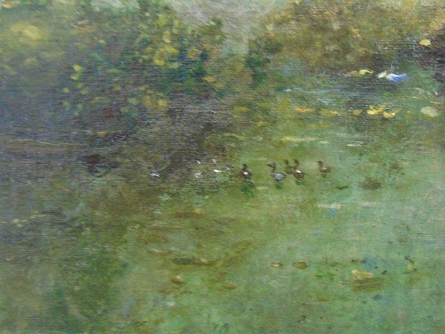Antique Oil on Canvas Landscape Painting C 1875 - 3