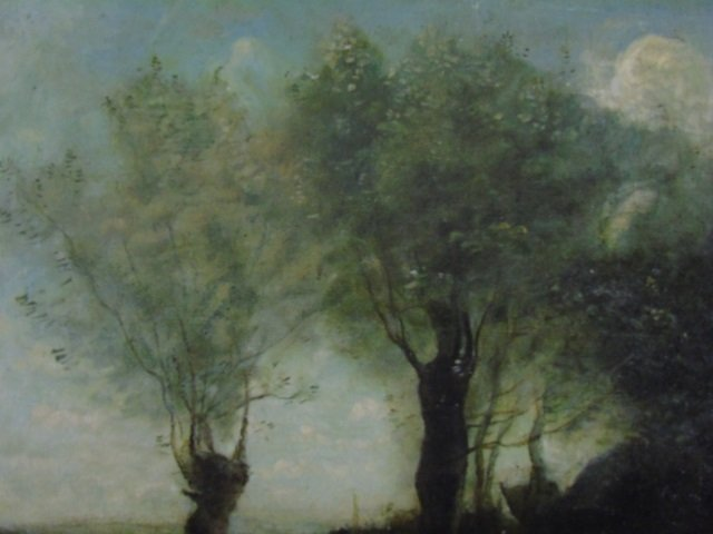 Antique French Barbizon School Style Oil Painting - 2