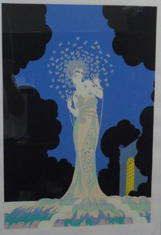 Erte - Pencil Signed & Framed Fantasia Litho - 2