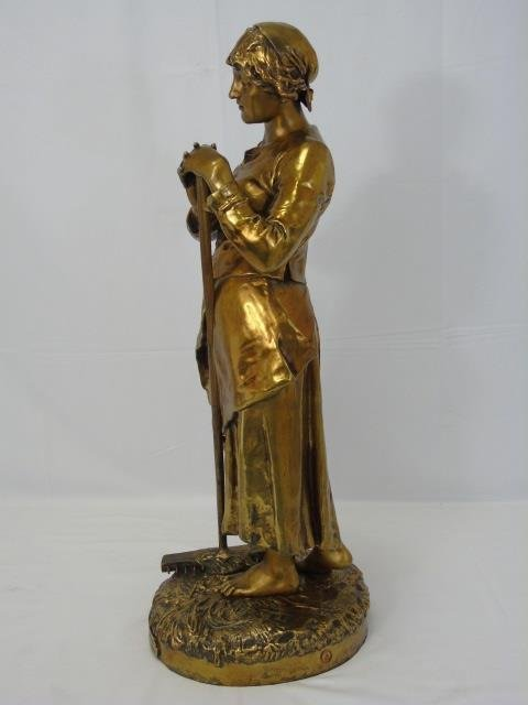 JEAN JULES CAMBOS Gilt Bronze Statue of a Lady - 2