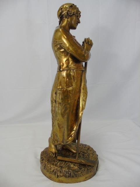 JEAN JULES CAMBOS Gilt Bronze Statue of a Lady - 6