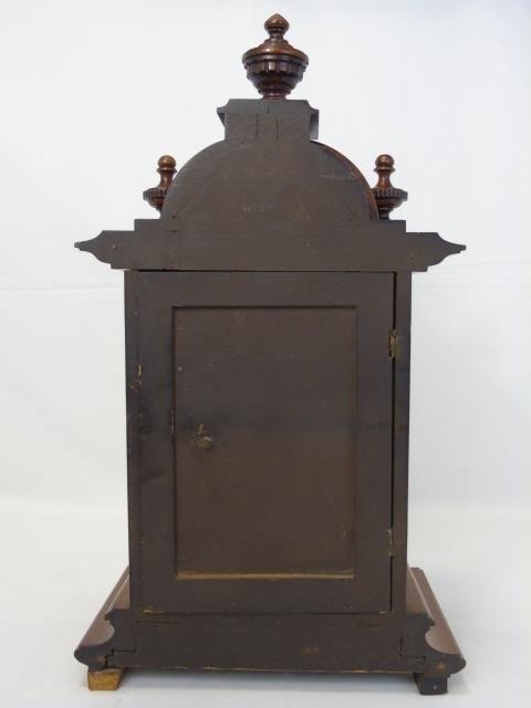 Vintage Mahogany Ornately Carved Mantel Clock - 3