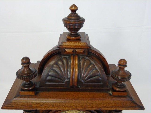 Vintage Mahogany Ornately Carved Mantel Clock - 7