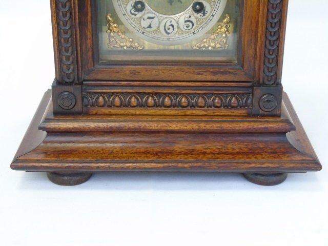 Vintage Mahogany Ornately Carved Mantel Clock - 8