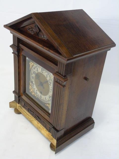 Vintage Mahogany Kienzle German Mantel Clock - 2