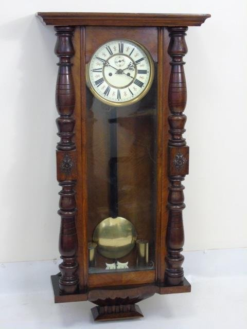 Vintage Mahogany Tavern Style Carved Wall Clock