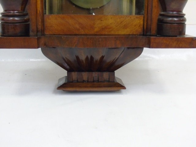 Vintage Mahogany Tavern Style Carved Wall Clock - 8