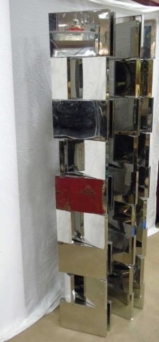 John Lyle Custom Contemporary Modern Chrome Screen - 6