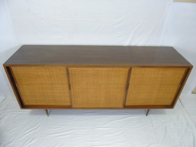 Mid Century Modern Cane Front Buffet Cabinet - 2