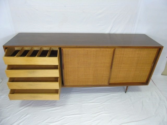 Mid Century Modern Cane Front Buffet Cabinet - 3
